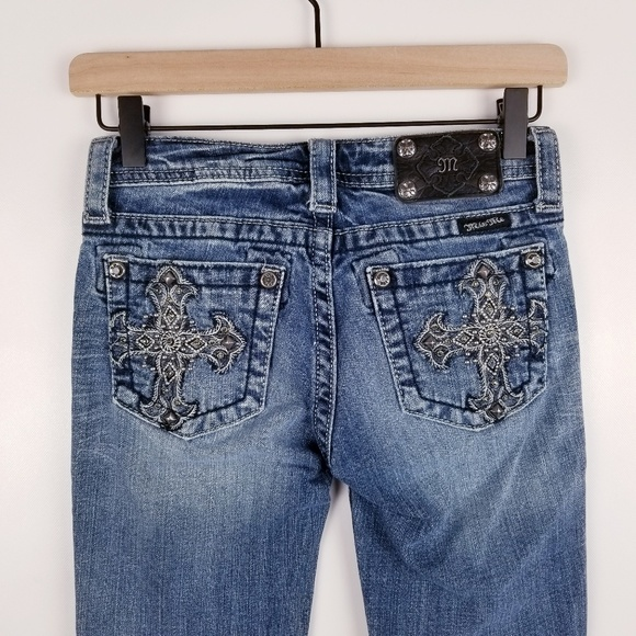 Miss Me Other - Miss Me Size 14 Skinny Blue Embellished Jeans